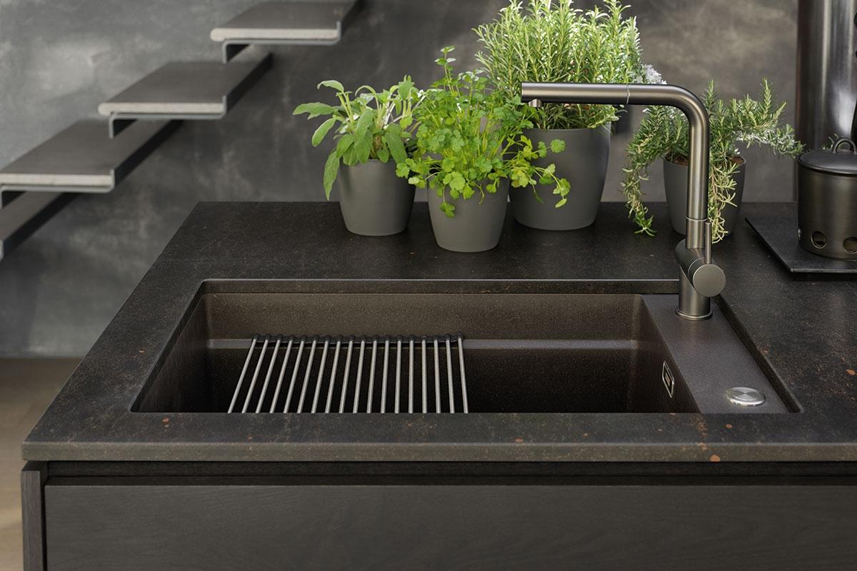 Evier Le Plus Resistant elégant évier noir plus dur que le métal | dimension